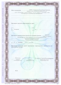 Лицензия. Оборотная сторона